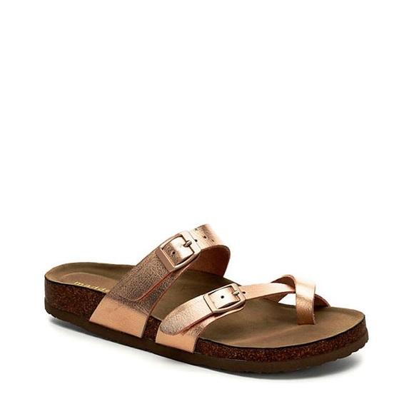 Rose Gold Brycee Sandal Toe Loop
